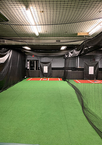 cage tunnel with backstop