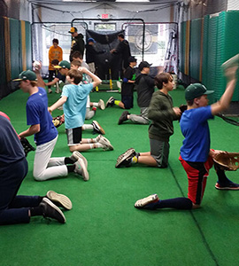 kids throwing and catching training